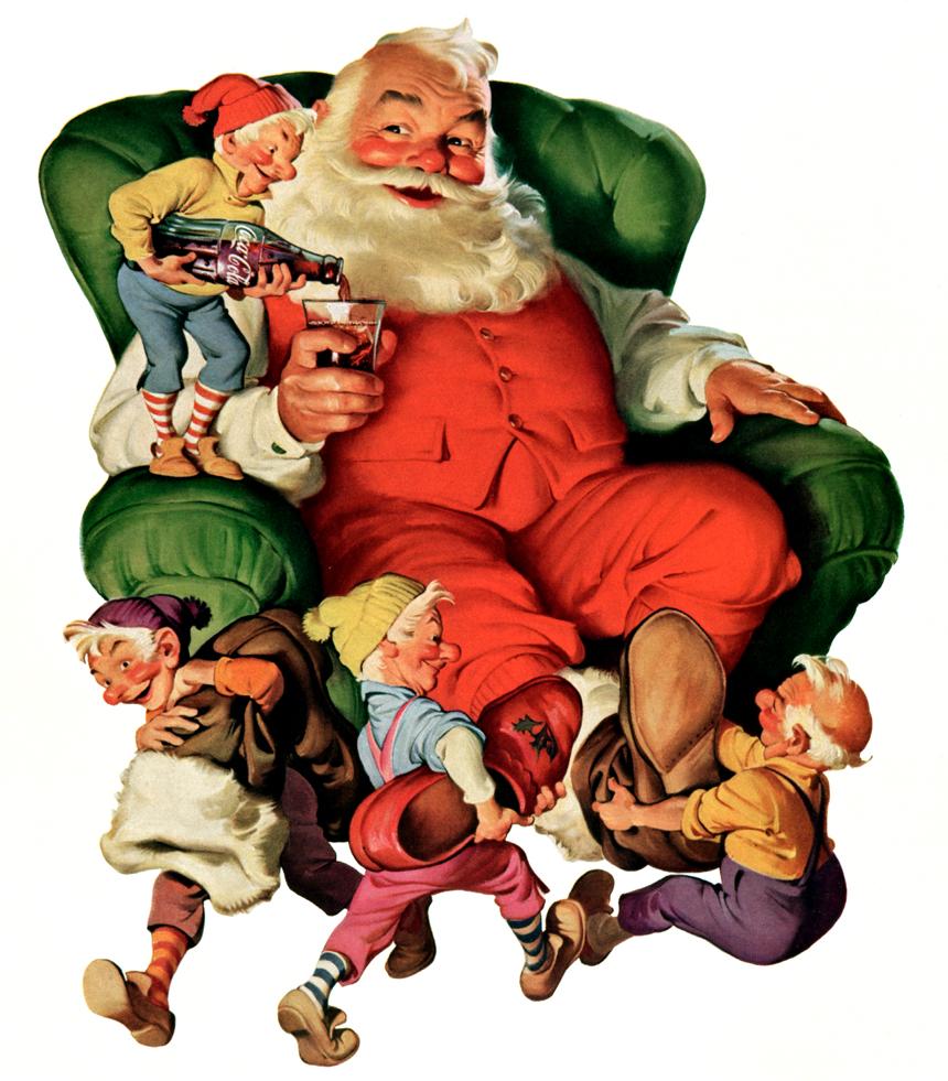 Claus Coke Christmas Art