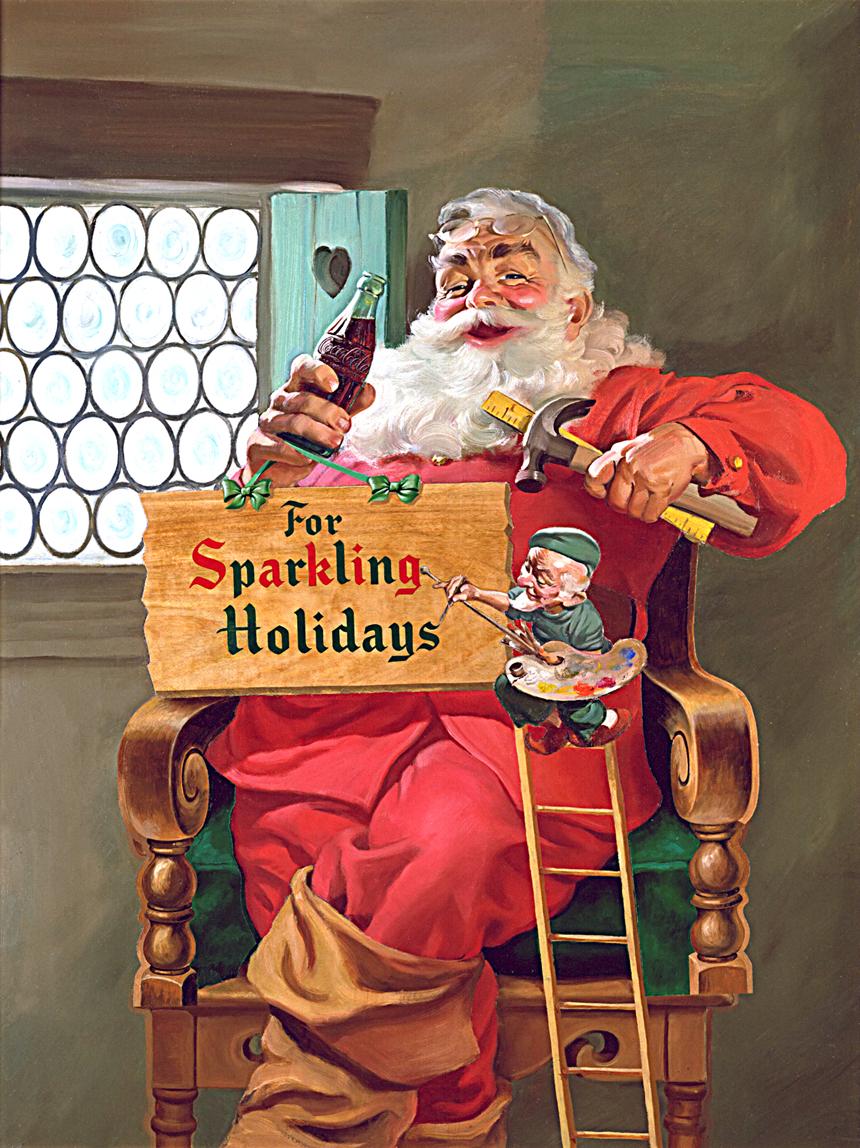 http://www.popandroll.com/coke-art/Coca-Cola-Art_Christmas_Santa11.jpg
