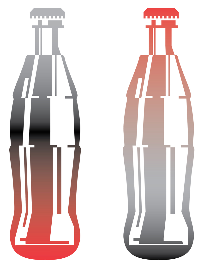Coke Bottle Outline Free Coca-Cola bottle vector