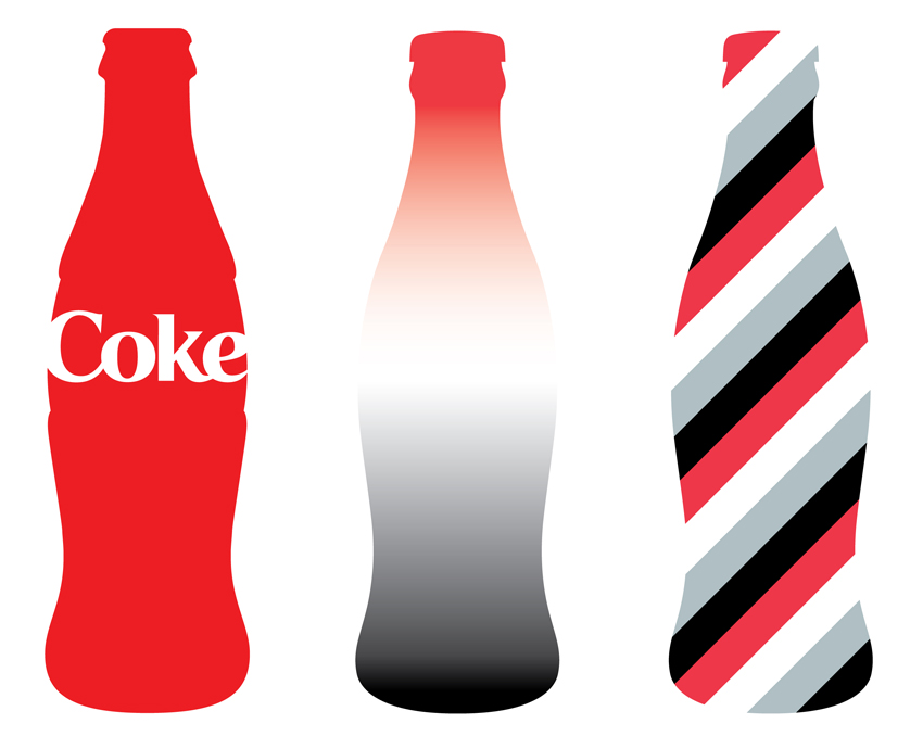 Coke Bottle Outline Coca-Cola contour bottles
