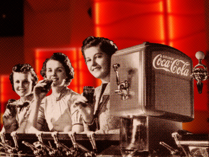 Coke side of life coca cola art gallery - Vintage coke wallpaper ...