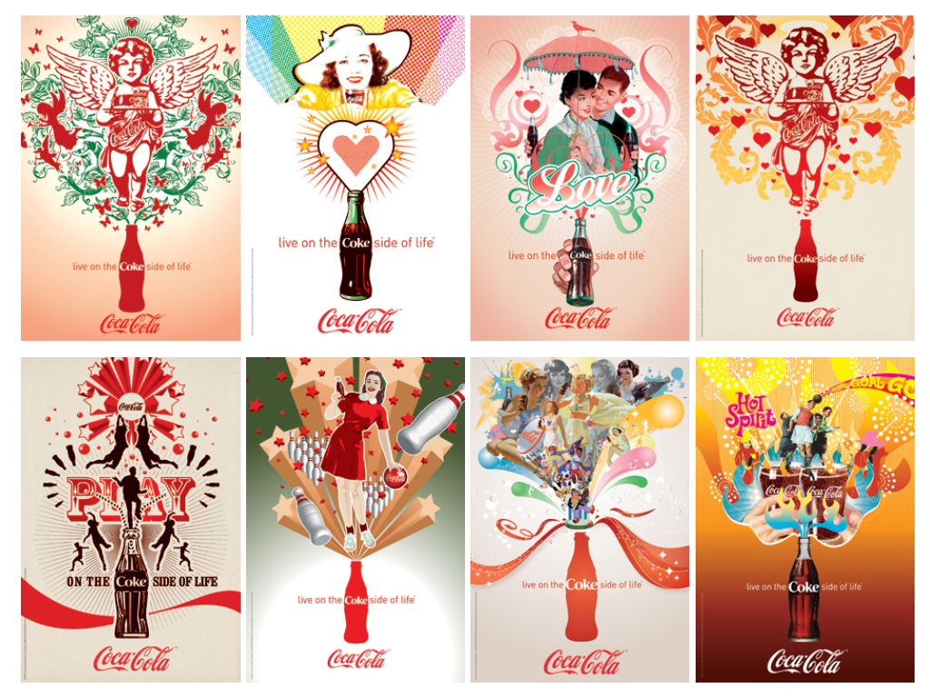 the coke side of life The article offers information about coca-cola co's new advertising campaign titled coke side of life wieden + kennedy developed the campaign and it also won an.